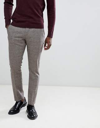 Selected Slim Fit Suit PANTS In Mixed Grid Check