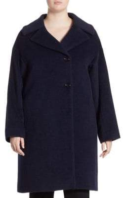 Cinzia Rocca Cinzia Rocca, Plus Size Plus Two Button Side Coat