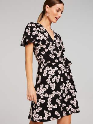 Portmans Australia Blossom Wrap Jersey Dress