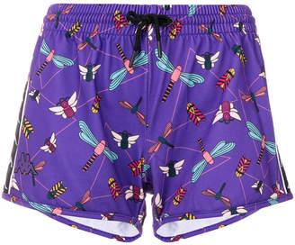 Kappa drawstring printed shorts