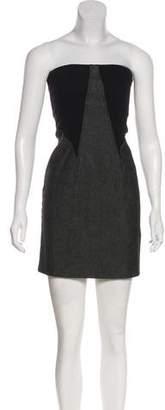 Theory Bandeau Mini Dress