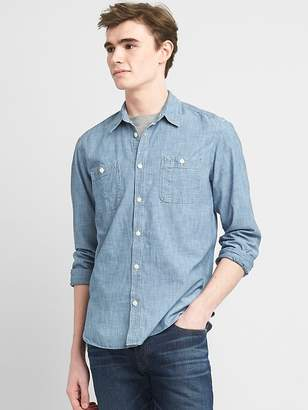 Gap Icon Worker Shirt in Chambray