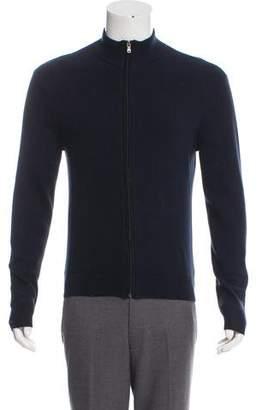 Michael Kors Woven Zip-Up Sweater