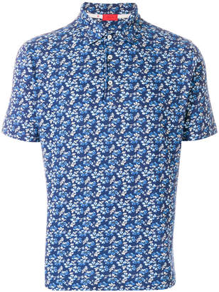 Isaia printed polo shirt