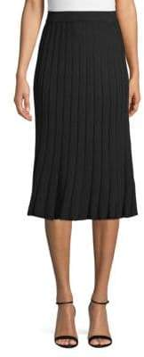Max Studio Ribbed-Knit Skirt