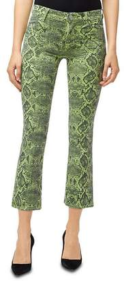 J Brand Selena Crop Bootcut Jeans in Lime Boa