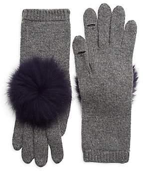 Eugenia Kim Women's Sloane Pom-Pom Fox Fur& Cashmere Gloves