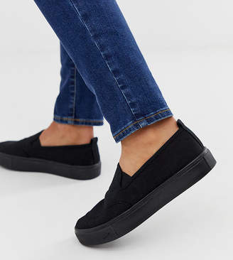 Dexter Asos Design ASOS DESIGN slip on plimsolls in black