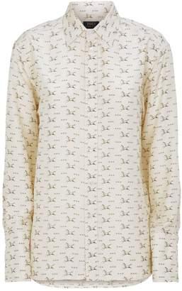 Ralph Lauren Silk Horse Etched Shirt