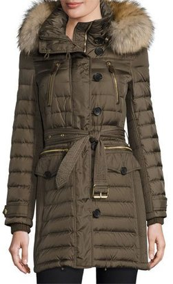 Burberry Pipleigh Hooded Puffer Jacket, Mink Gray $1,395 thestylecure.com