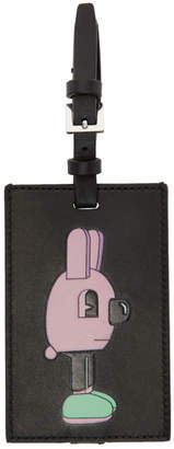 BOSS Black and Purple Jeremyville Edition Bunny Luggage Tag