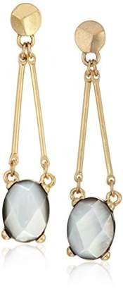 "Kenneth Cole New York Tectonic Plates"" Shell Stone Bar Drop Earrings"