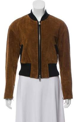 3.1 Phillip Lim Leather-Accented Bomber Jacket