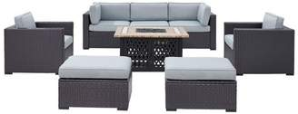 Crosley Biscayne 7-Piece Outdoor Wicker Seating Set