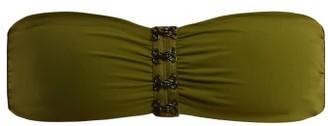 Dos Gardenias - Hooker Bandeau Bikini Top - Womens - Khaki