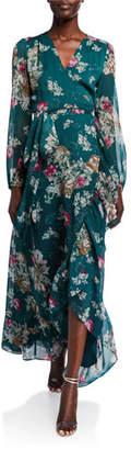 WAYF The Meryl Floral Long-Sleeve Wrap Dress