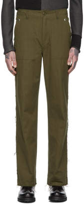TAKAHIROMIYASHITA TheSoloist. Green Fatigue Trousers