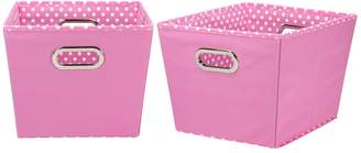 Household Essentials Mini Dot 2-pk. Collapsible Storage Bins - Medium