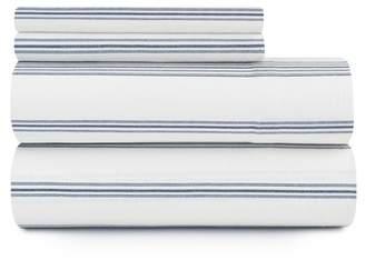 Pendleton Ticking Stripe Flannel Full Sheet Set - Ivory