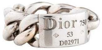 Christian Dior 18K Gourmette Chain Band