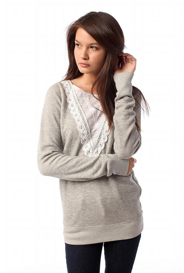 Kimchi Blue Lace Inset Pullover