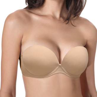 Vogue's Secret Women's Strapless Convertible Super Padded Push up Underwire Multiway T Shirt Bra