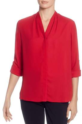 T Tahari V-Neck Blouse
