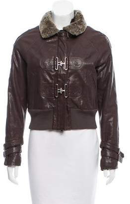 Yigal Azrouel Sherpa-Trimmed Aviator Jacket