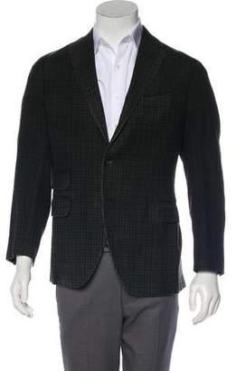 Boglioli Wool Checkerboard Blazer