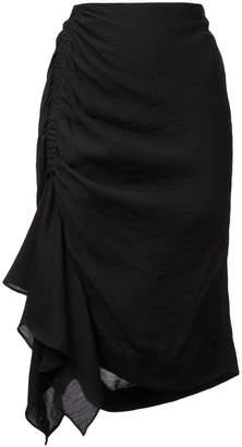 Natori asymmetric mini skirt