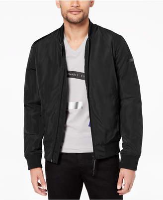 Armani Exchange Men's Padded Full-Zip Bomber Jacket