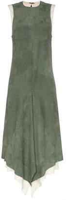 Chloé asymmetric midi suede dress