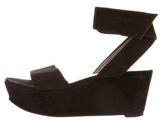 Robert Clergerie Suede Wedge Sandals