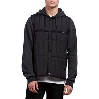 Volcom Men's Stripester Medium Weight Hooded Puff Jacket