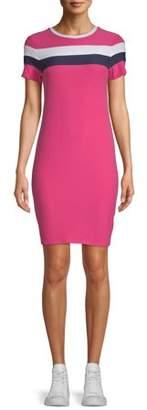 Eye Candy Juniors' Peached Stripe Dress