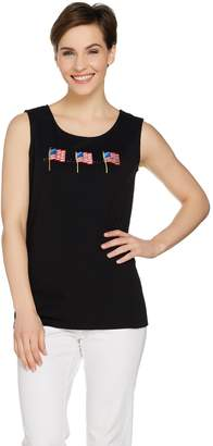 Factory Quacker Fun in the Sun Embroidered Sleeveless Knit Tank