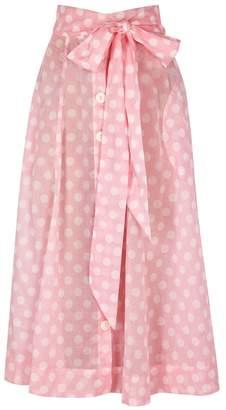 Lisa Marie Fernandez Polka-dot Printed Cotton Maxi Skirt