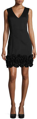 Isa Belle ISABELLE & NINA Isabelle & Nina Sleeveless Ruffle Hem Sheath Dress