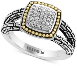 Effy Balissima by Diamond Cluster Ring (1/5 ct. t.w.) in Sterling Silver & 18k Gold