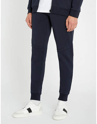 HUGO Tapered cotton-jersey jogging bottoms