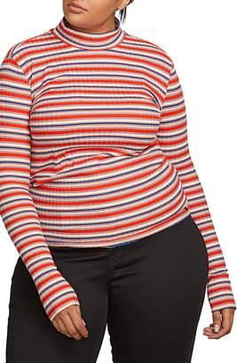 Volcom Tail Slide Stripe Mock Neck Top