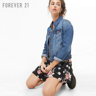 Forever 21 (フォーエバー 21) - Forever 21 ウォッシュドデニムジャケット
