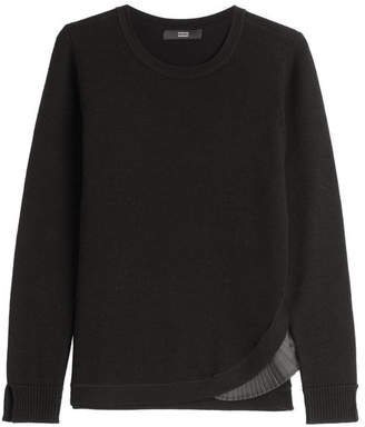 Steffen Schraut Merino Wool Pullover with Pleated Insert