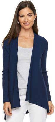 Women's Dana Buchman Open-Front Ribbed Cardigan $44 thestylecure.com