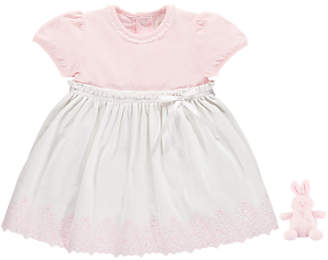 Emile et Rose Baby Marcela Dress And Jersey Pants, Pink/White