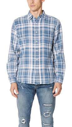 Frame Indigo Plaid Shirt