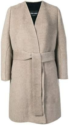 Giorgio Armani belted knit coat