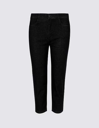 Marks and Spencer Straight Leg Mid Rise Cropped Jeans