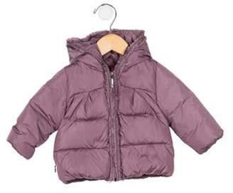 Moncler Girls' Hooded Down Puffer Coat Girls' Hooded Down Puffer Coat