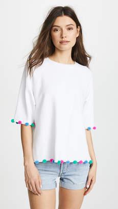 South Parade Short Sleeve Sweatshirt with Pom Poms